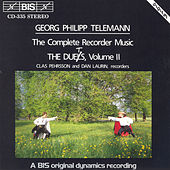 Complete Recorder Music, The  Duets, Vol. Ii by Georg Philipp Telemann