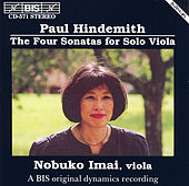 Solo Viola Sonatas by Paul Hindemith