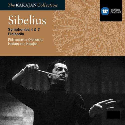 Sibelius: Symphony Nos 4 & 7; Finlandia by Philharmonia Orchestra