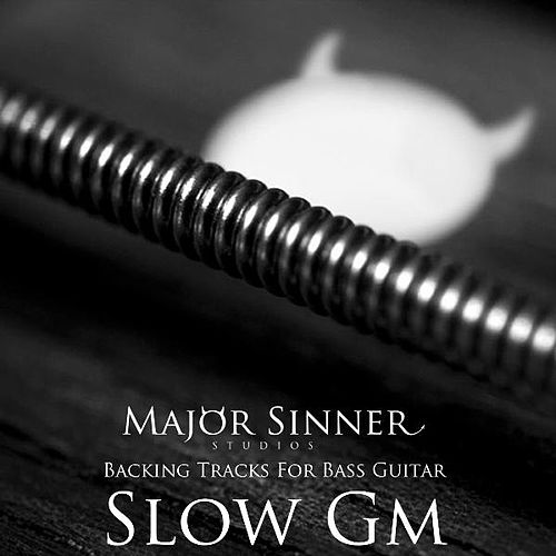 Slow Gm Blues Bass Guitar Backing Track by Major Sinner