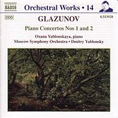 Piano Concertos Nos. 1 and 2 by Alexander Glazunov
